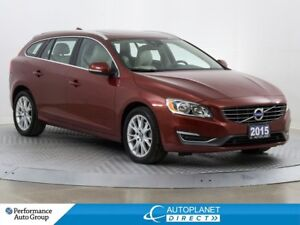 2015 Volvo V60 T5 Premier Plus, Back Up Cam, Sunroof, Bluetooth!