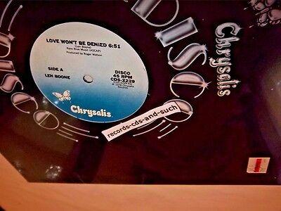 LEN BOONE-LOVE WON'T BE DENIED/+INSTRUMENTAL-CDS-2229 NEW SEALED VINYL