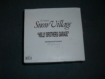 Department 56 Snow Village Holly Brothers Garage New    54854