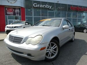 2004 Mercedes-Benz C-Class KOMPRESSOR/JANTES EN ALLIAGE/AIR CLIM