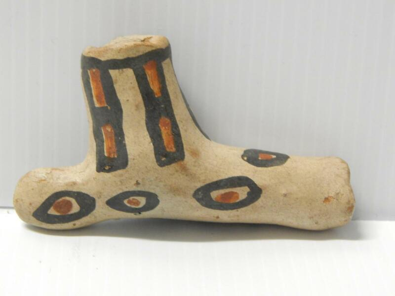 VINTAGE ANTIQUE COCHITI  PUEBLO INDIAN CLAY POTTERY PIPE SCARCE INVESTMENT GRADE