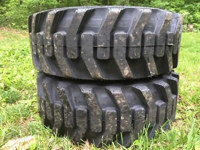 2 New Galaxy Xd2010 10-16.5 Skid Steer Tires For Bobcat Others-10x16.5 -10 Ply