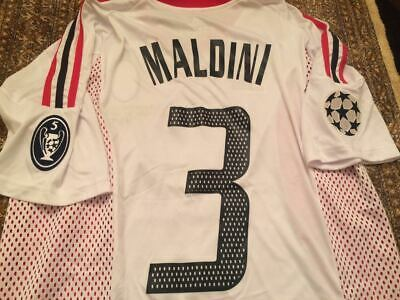 AC Milan Final old trafford 2003 Champions League Maldini Gatusso  retro jersey