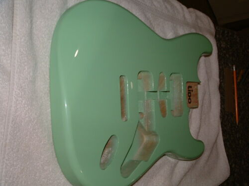 .Surf Green double cut  Guitar Body...in great shape ,,never used