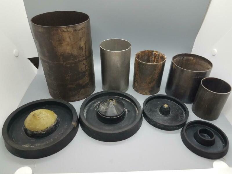 Jewelry Casting Flasks and Rubber Bases LOT