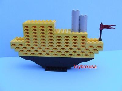 Custom Sculpture Boat Cruiser Yacht Ship Vacation Liner Built W/ New Lego Bricks