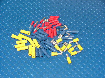 70 ASSORTED INSULATED BULLET CONNECTOR ELECTRICAL CRIMP TERMINALS CABLE/WIRE