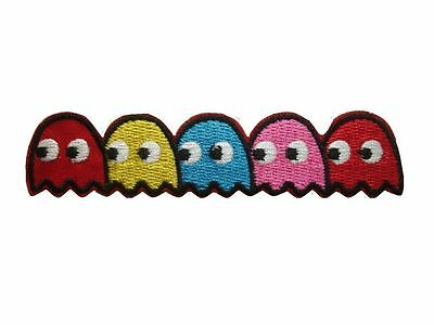 PACMAN ghosts Blinky Pinky Inky Clyde Embroidered PATCH 4