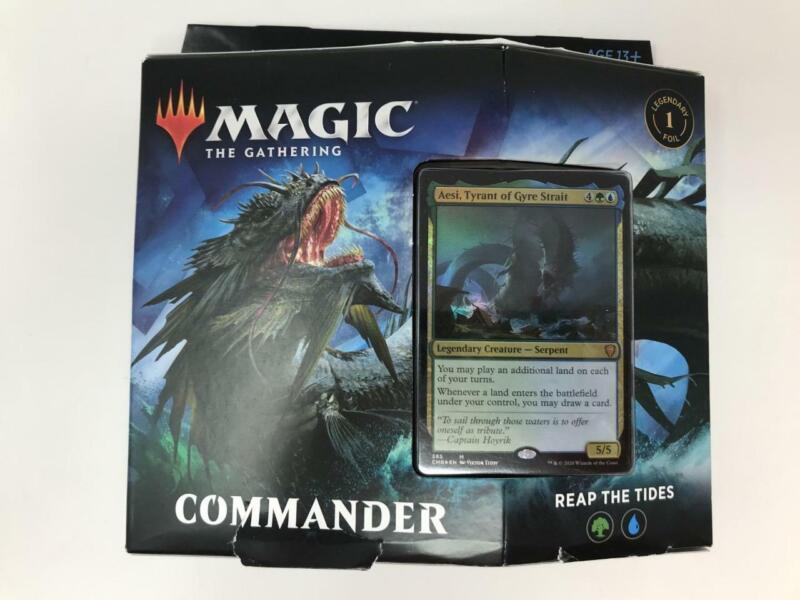2020 Factory Sealed MTG Magic the Gathering Commander Reap the Tides Deck (invA)