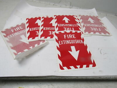 Fire Extinguisher Arrow Sticker Osha Work Safety Business Sign Label Lot Of 18