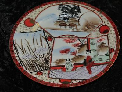 Japanese Eggshell Porcelain Side Plate Hand Decorated Geisha Pattern & Gilding Porcelain Side Plate