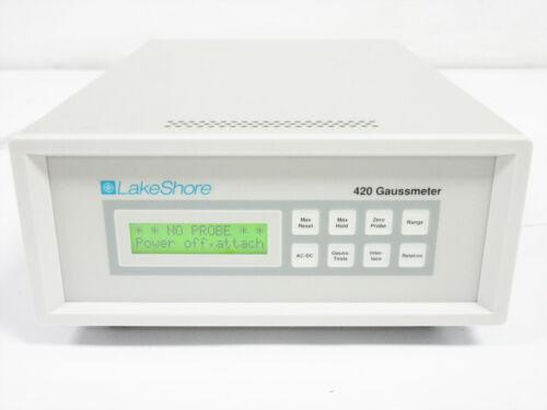 LAKESHORE 420 GAUSSMETER LCD GAUSS TESLA ~ 3 mG (0.3 µT) to 300 kG (30 T) - B