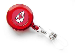 NFL BADGE REEL KEYCHAIN ID KEY PHOTO HOLDER TICKET RETRACTABLE LANYARD CLIP PICK