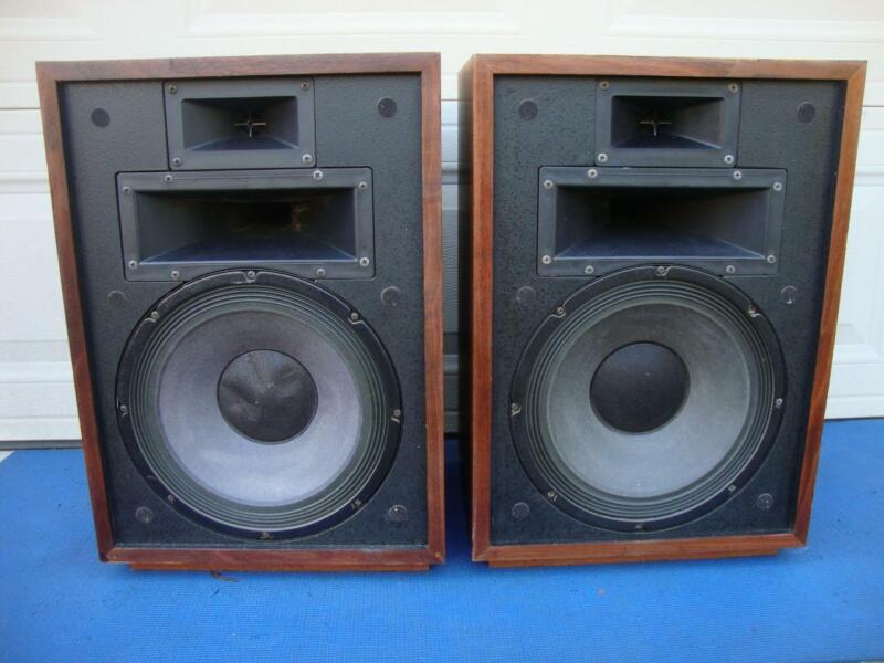 Awesome KLIPSCH Heresy II  3-Way Floor speakers w/ Risers - Reconditioned.