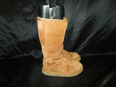 UGG Size 5 Brown Knightsbridge Boots Back Zipper Shearling Sherpa Lined Suede 36