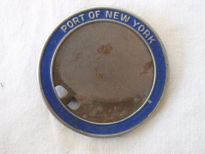 VINTAGE PORT OF NEW YORK ID HOLDER