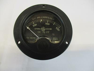 Vintage Ge Panel Meter Dc Milliamperes Sc15-22 Model 8dw41