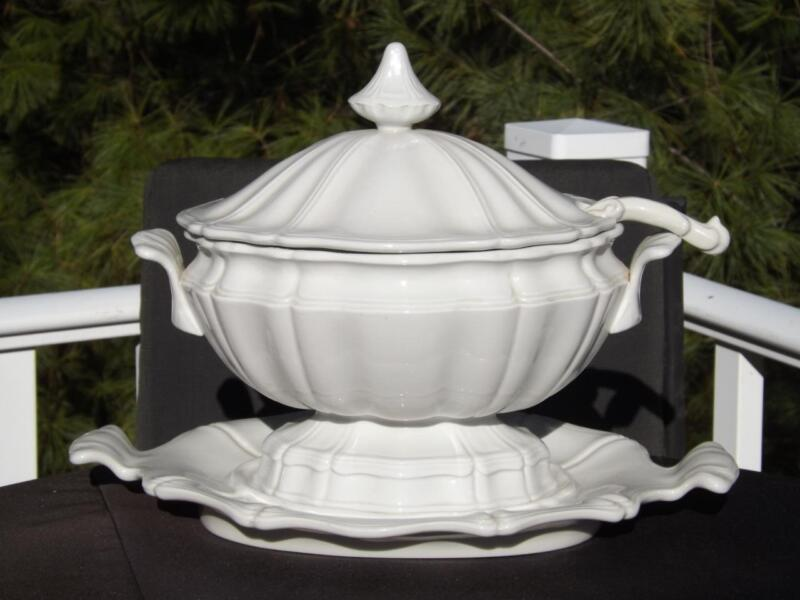Red Cliff Heirloom Ironstone Soup Tureen with Ladle & Underplate  EXC