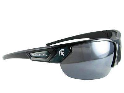 Michigan State Spartans Black Green Mens Womens Sport Sunglasses MSU Gift covid 19 (Michigan State Spartans Green coronavirus)