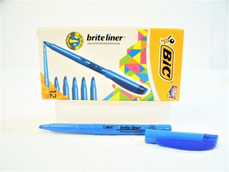 1-Pack BIC Brite Liner Highlighter Multi-use Chisel Tip Color: Blue  65552