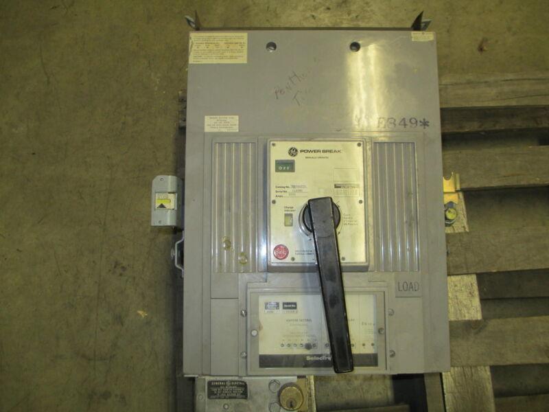 Ge Powerbreak Tprr6620n 2000a 3p 600v Mo/do Circuit Breaker W/ I Used E-ok