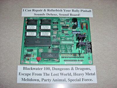 Bally Pinball 'Sounds Deluxe' Sound Board, Refurbish Service. READ Listing!