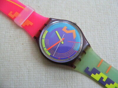 1989 Vintage swatch watch Stormy Weather GV100. -- Read before you purchase.