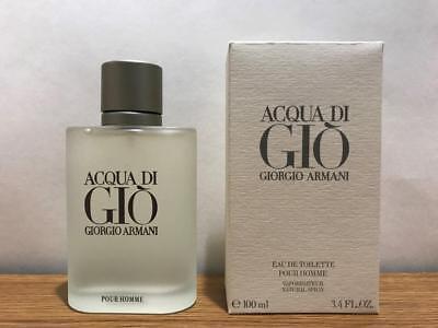 Acqua Di Gio 3.4 oz Cologne For Men Spray EDT Giorgio Armani Brand New & Sealed