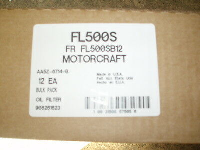 12 NEW Motorcraft FL500SB12 Engine Oil Filter FL500S CASE FAST FREE SHIPPING