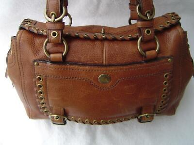 AUTHENTIC COACH WHISKEY LEATHER LACED ABBY STUDDED SATCHEL  #10972 VGC Ladies Studded Satchel