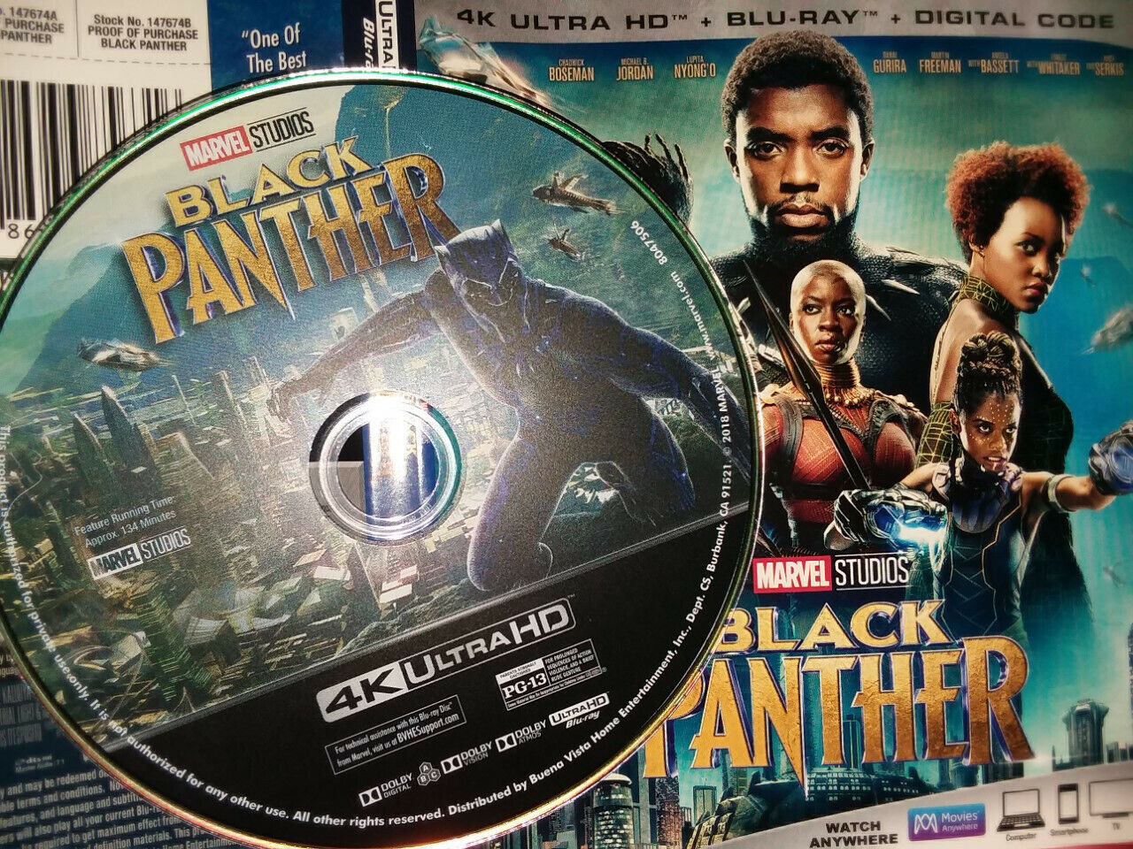 Black Panther 4k DISC ONLY Artwork never Played - $10.99