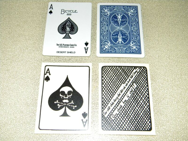 "VIETNAM  & DESERT SHIELD  ""ACE OF SPADES DEATH CARDS"" SAME DAY SHIPPING"