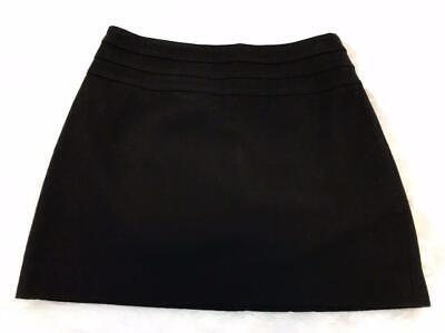 H & M Women's Black WOOL Blend Mini Skirt Sz 8