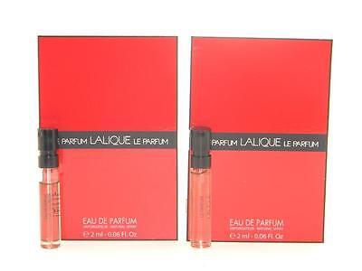 2 X Lalique Le Parfum Eau De Parfum EDP Vial Sample 2ml 0.06oz