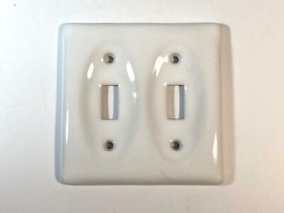 Single Toggle Switch /& Outlet Cover Switch Plate Cover Genuine Porcelain White