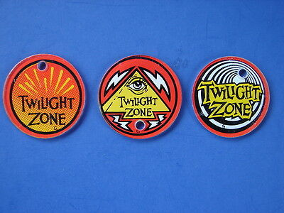 Twilight Zone 1993 Pinball Machine Three Different Key Chain Promotional Fobs