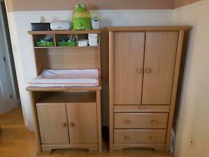 armoire et table à langer