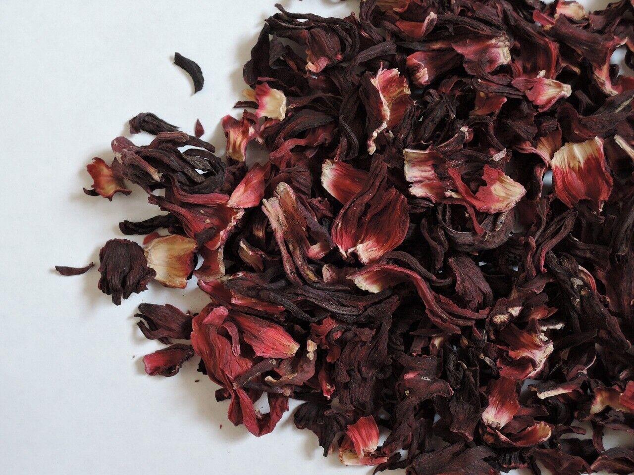 Premium Organic Hibiscus Tea Dried Cut & Sifted Loose Leaf B