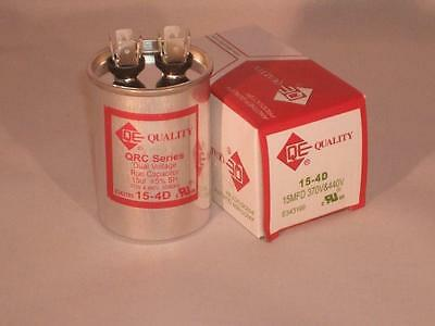 15 Mfd 370-440vac Round Electric Motor Run Oil Filled Capacitor 15 Uf Hvac Volts