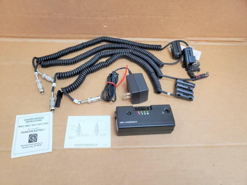 Quantum QB1 Compact Battery w/ Power Adapter & Gripper Plug Cables