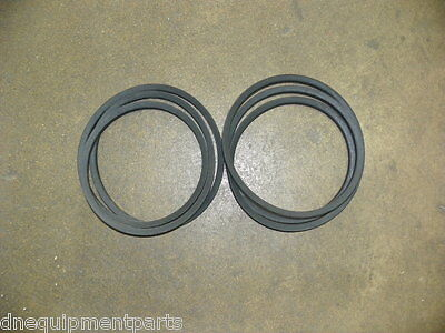 Set Of Two 2 Replacement Belts For Buhlerfarm King 7 Finish Mower 973248