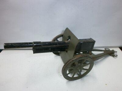 alte Hausser Elastolin Blech Kanone Geschütz 19cm für Massesoldaten zu 7.5cm