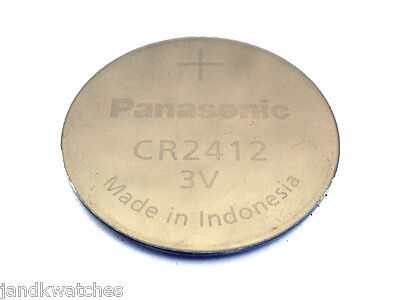 CR2412 Lithium Panasonic Battery for Seiko 8F32A, 8F33A, 8F3