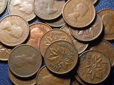 1956 CANADIAN SMALL CENTS QUEEN ELIZABETH II       BUY ONE OR BUY THEM ALL