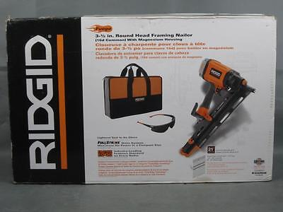 "Brand New RIDGID R350RHE 3-1/2"" Round Head 21° Framing Nailer"