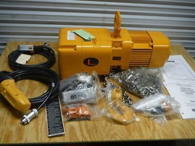 New Harrington Ner010l-20 1 Ton 20 Ft Lift 460 Volt 3 Phase 14 Fpm Chain Hoist