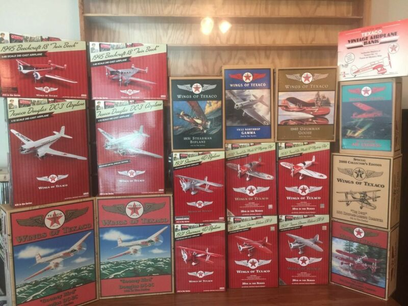Complete Set of Wings of Texaco (47 Airplanes)