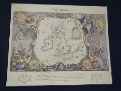 Reproduction Antique Map of the Route of the Spanish Armada.