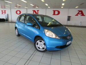 2009 Honda Jazz GE MY10 GLi Cerulean Blue 5 Speed Automatic Hatchback