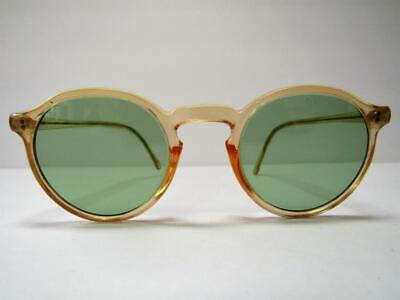 Vintage American Optical Safety Glasses Green Lense Steampunk Sunglasses AOM